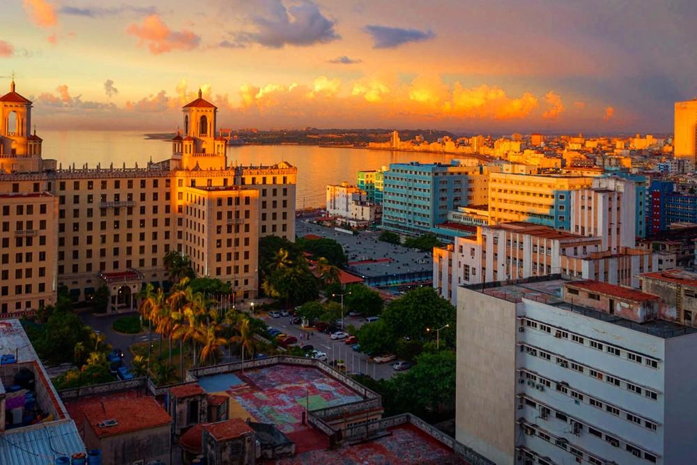 The golden hour, a sunset over Havana, Cuba. Photo: Michael Petit