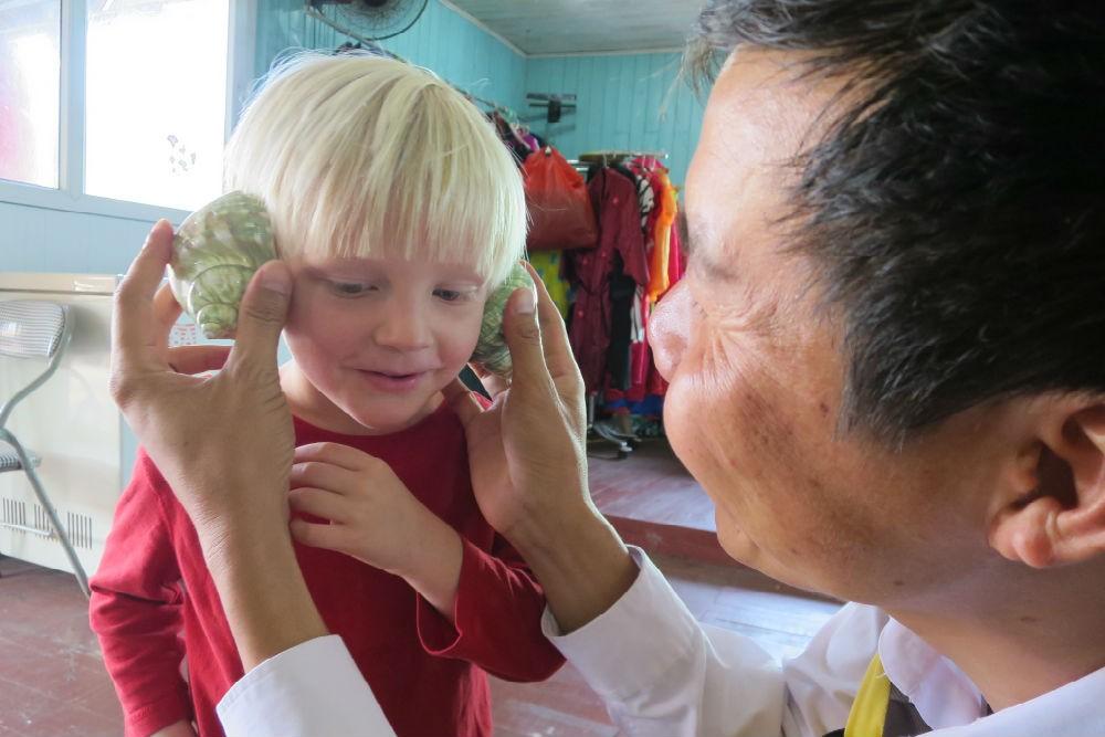 Kid-focused activities on Halong Bay
