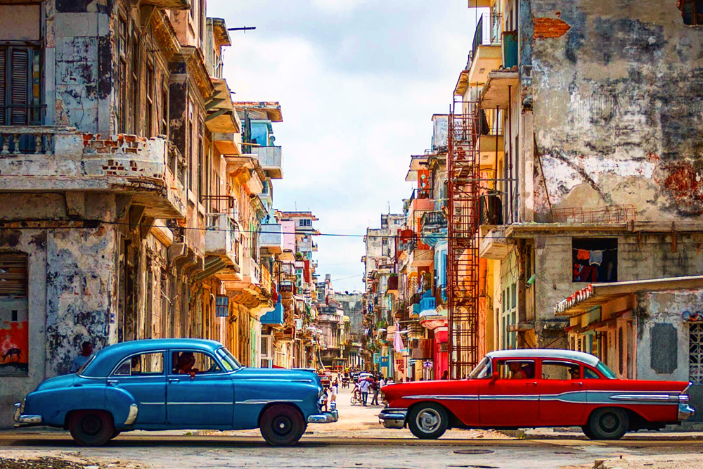 Vintage cars in Old Havana, Cuba. Photo: Michael Petit