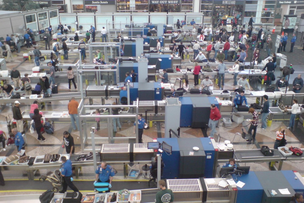 Security screening at Denver Airport. Photo credit: Inha Leex Hale via Foter.com / CC BY