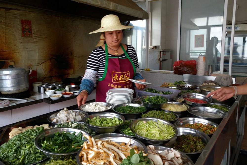 Dali Yunnan China local lunch woman cooking
