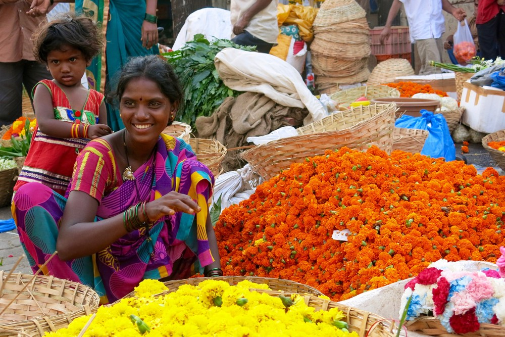 Flower Market at the end of the Mumbai by Dawn tour