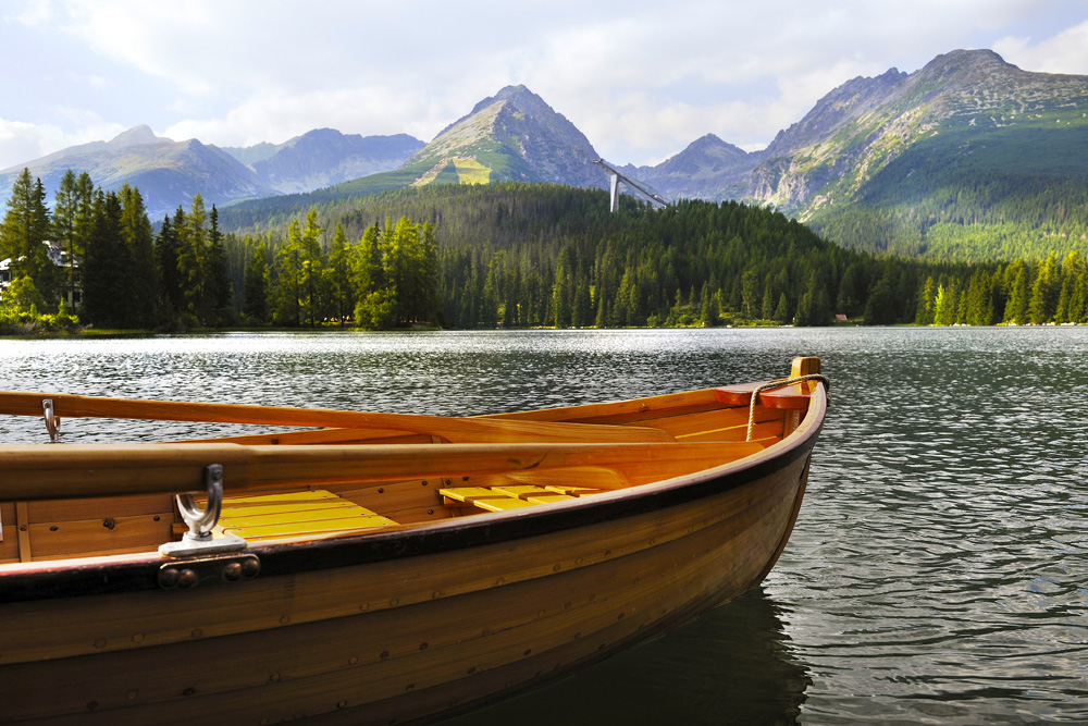 Boating on the lake at the Kempinski Hotel High Tatras, Slovakia. Photo credit: Kempinski Hotel High Tatras.