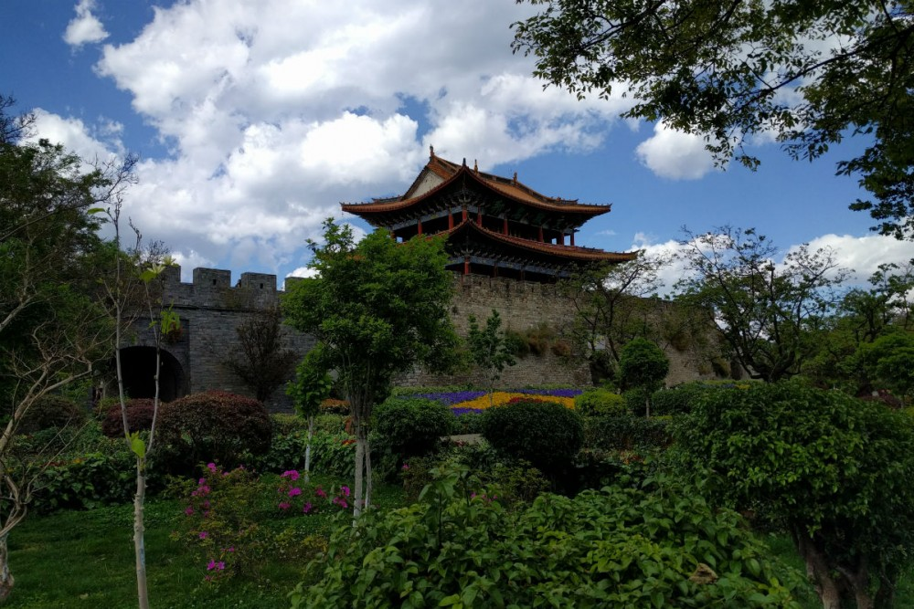 The city wall and gate of Old Dali, Yunnan Province China