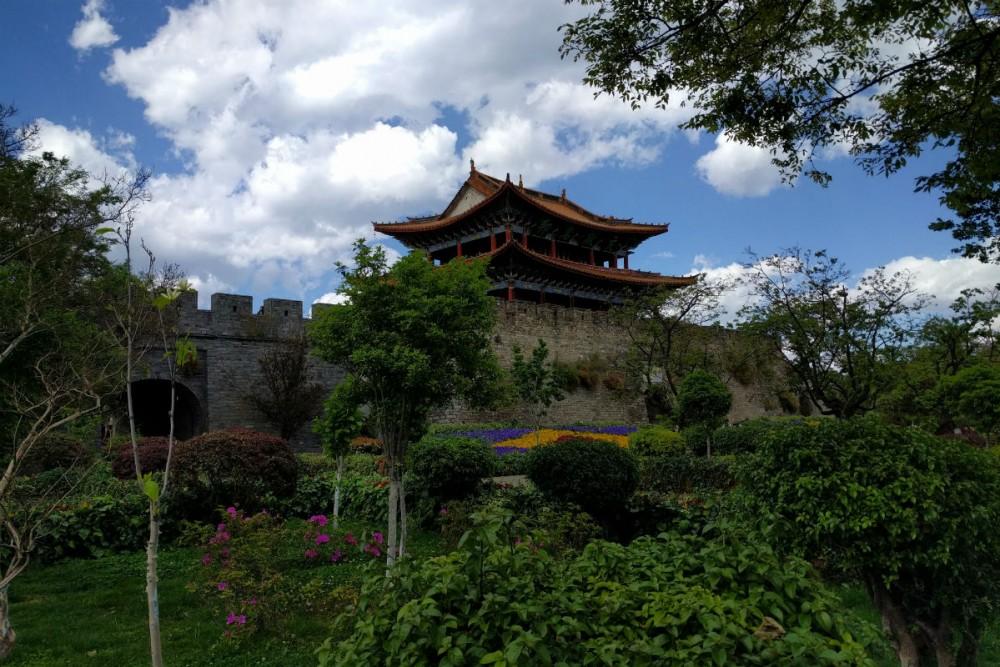 The city wall and gate of Old Dali, Yunnan Province China