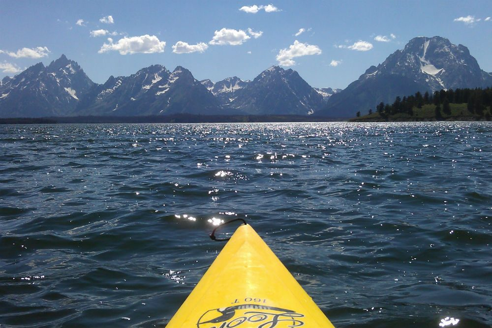kayaking in jackson lake grand teton national park