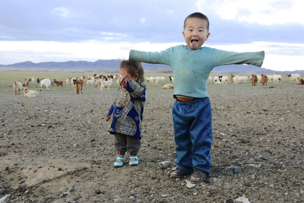 Children in Mongolia. Photo: M. Dunlap