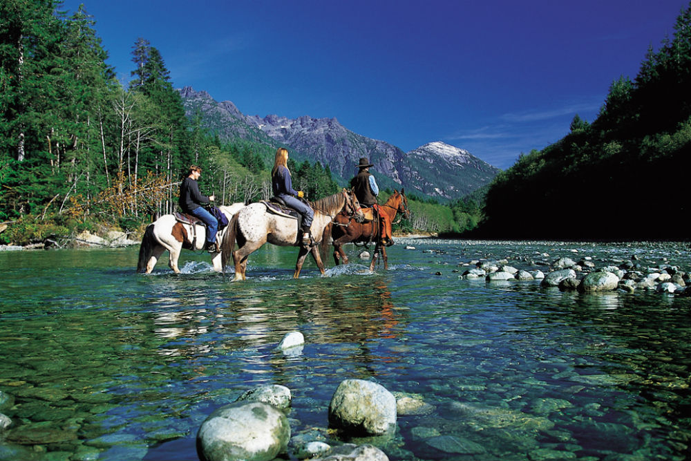 horseback riding in british columbia at clayoquot wilderness resort