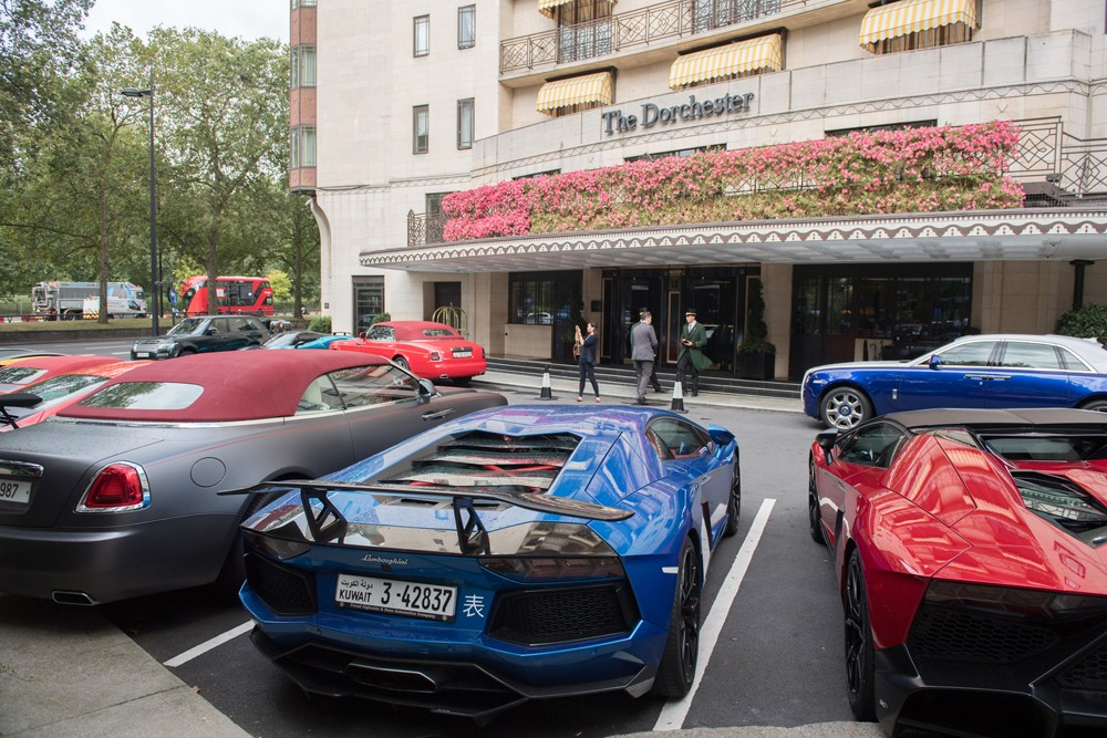 Lamborghinis and three Rolls-Royces