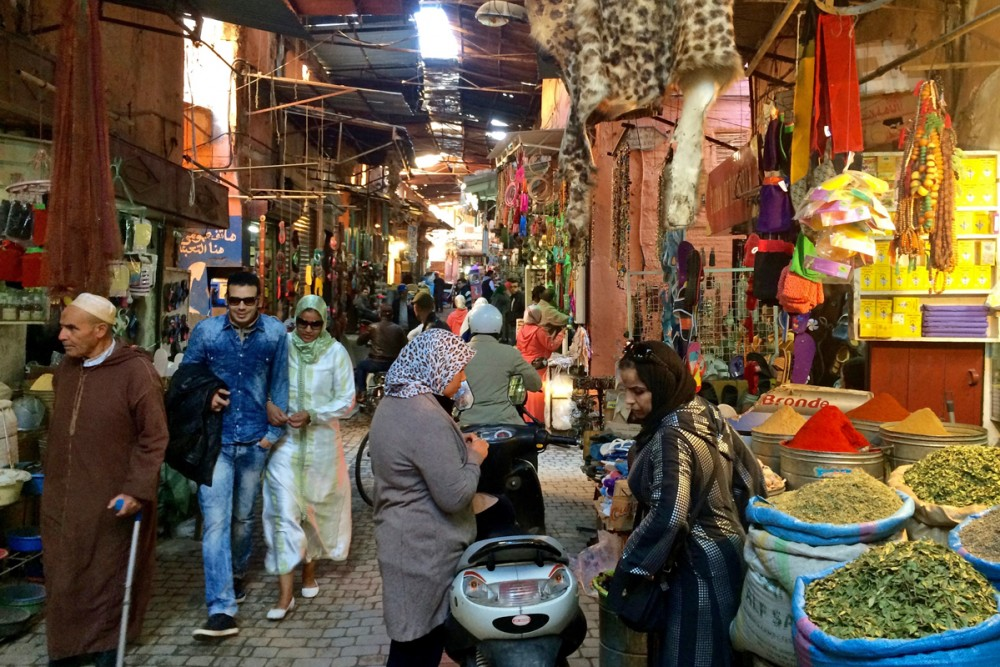 Strolling through the souk.