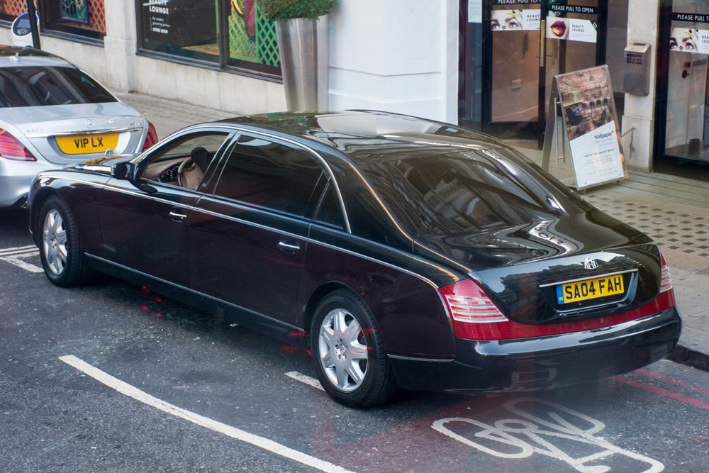 Maybach 62 Zeppelin just off Sloane Street.