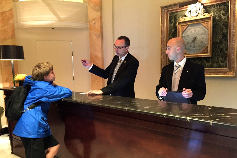 concierge at The Dorchester