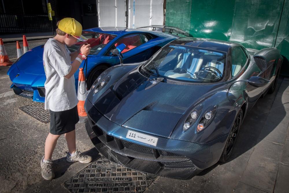 carbon-fiber Pagani Huayra, Lamborghini Aventador