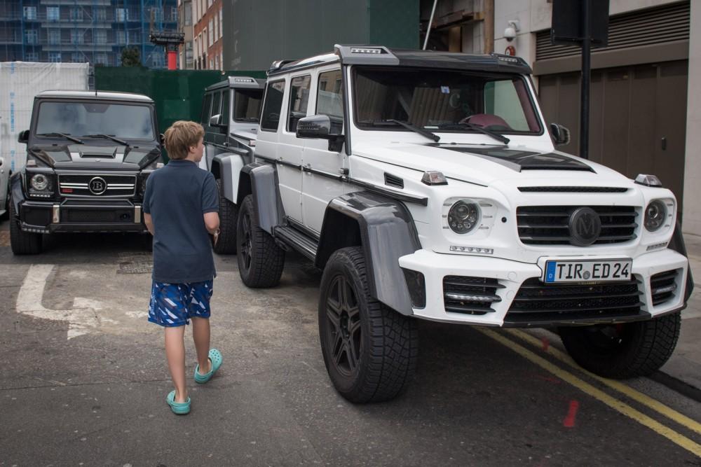 modded Mercedes G-Wagens