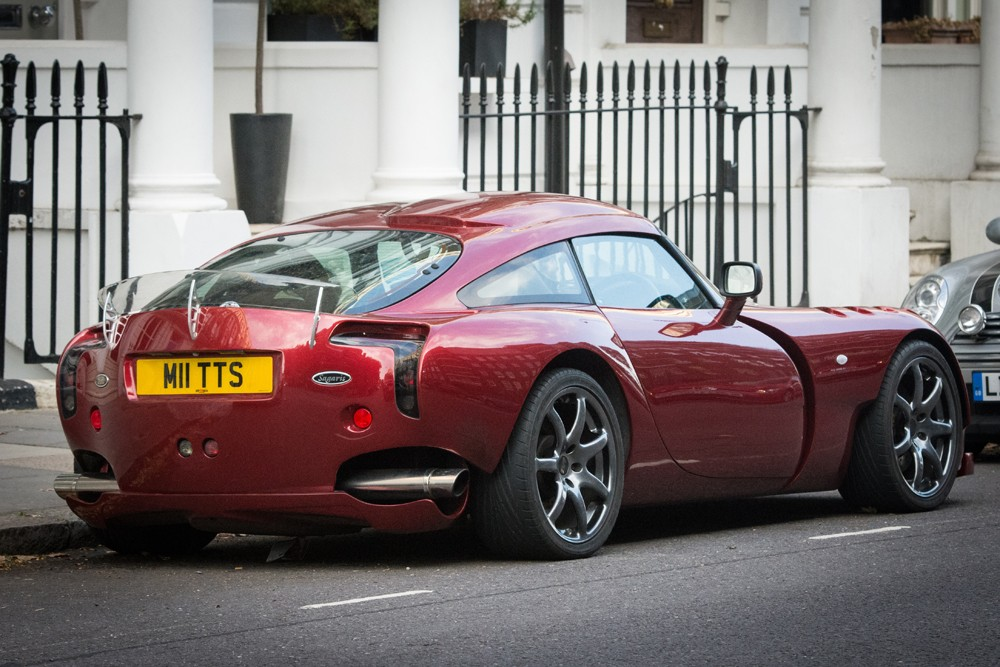 British-made TVR sportscar