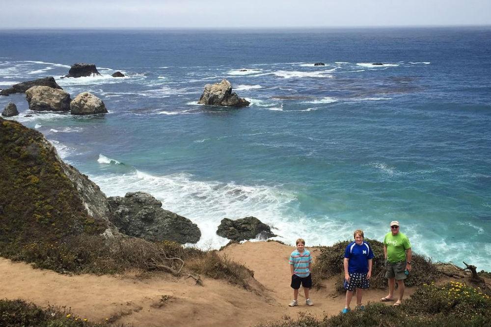 family road trip California