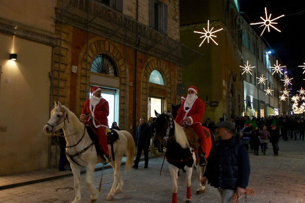 Christmas in italy santas on horseback