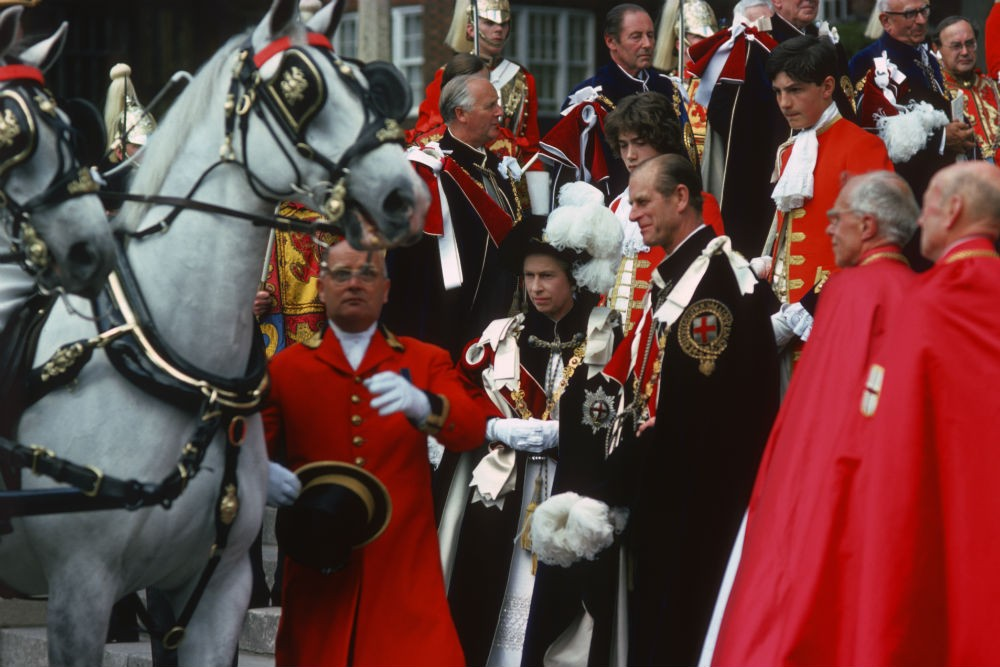 Queen Elizabeth II at the Garter Ceremony