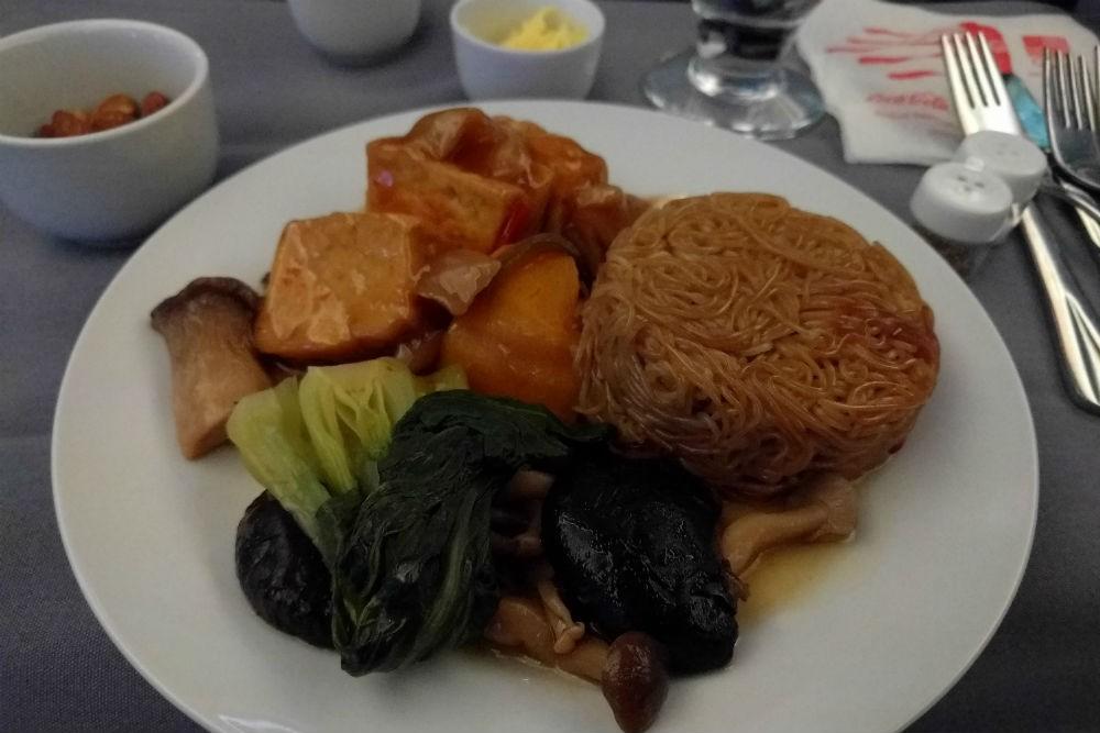 United 787 main vegetarian meal