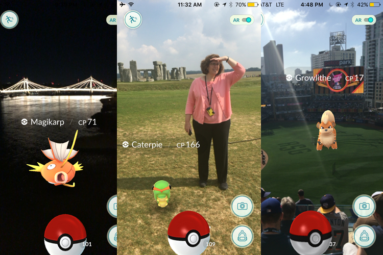 pokemon go in London, Stonehenge and San Diego