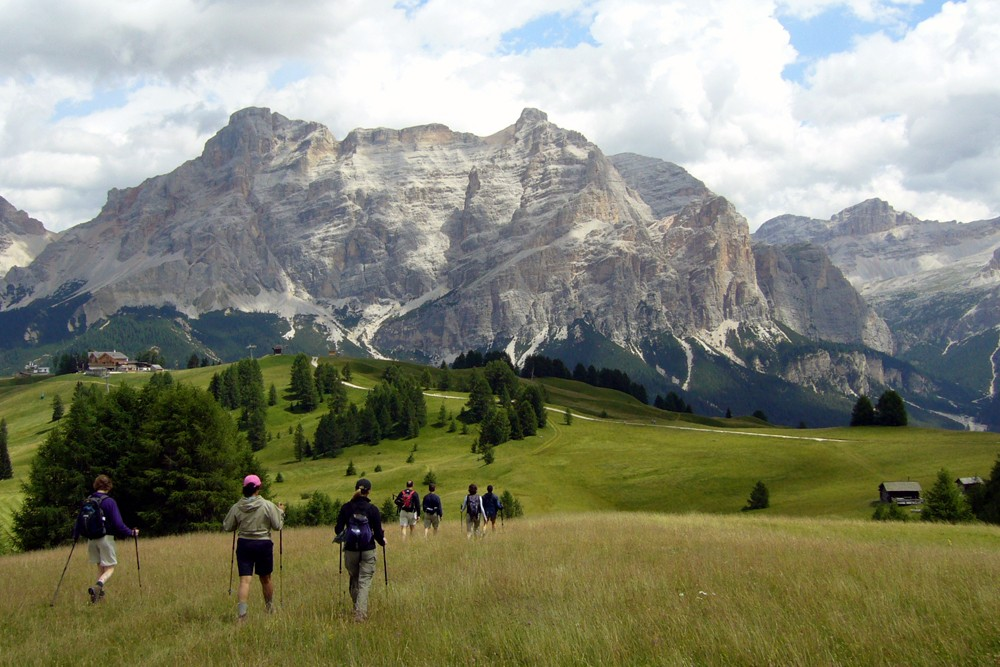hiking in the Dolomites, Italy