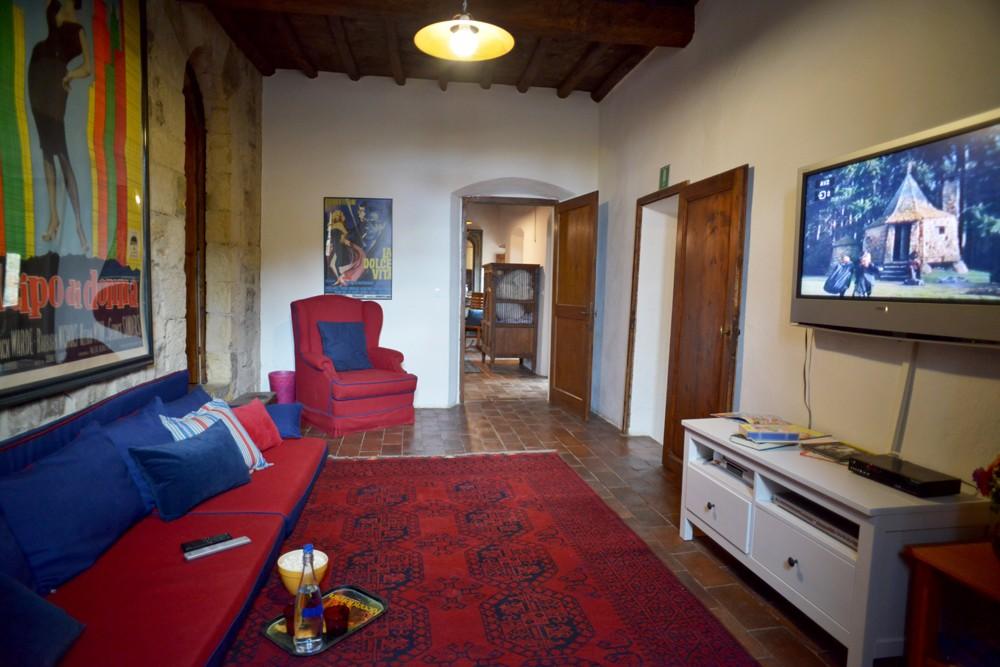 children's TV room Ca di Pesa Italy villa