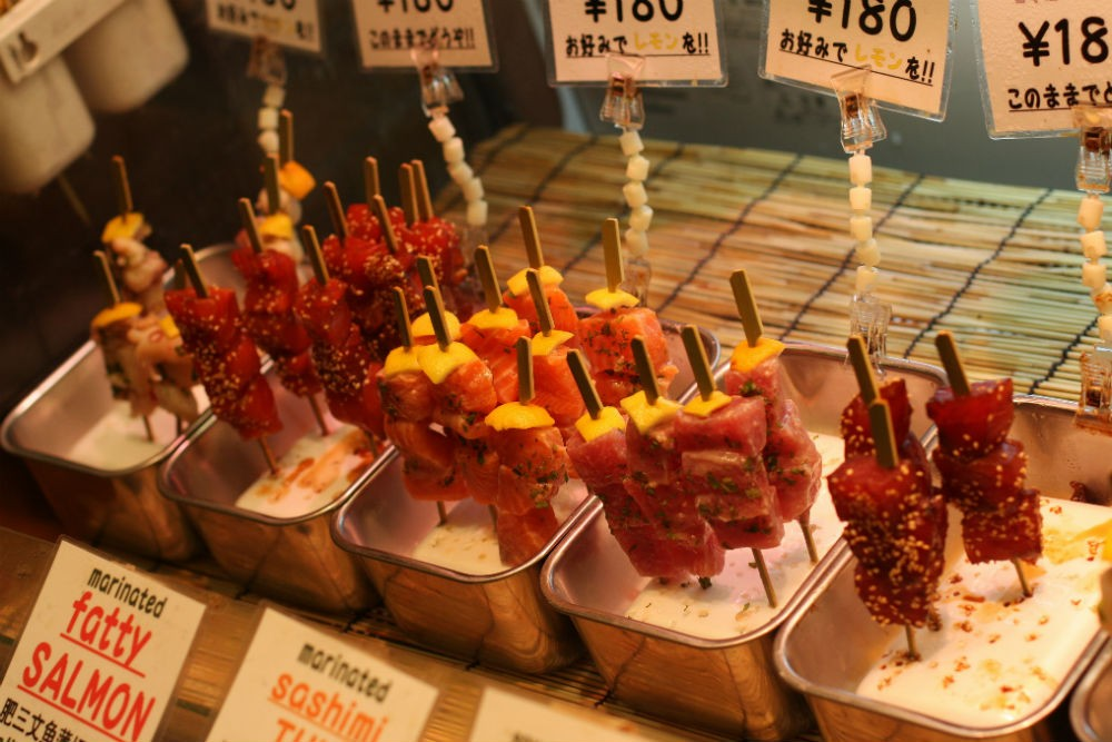 Nishiki Food Market Kyoto Japan CR Flickr-Jan