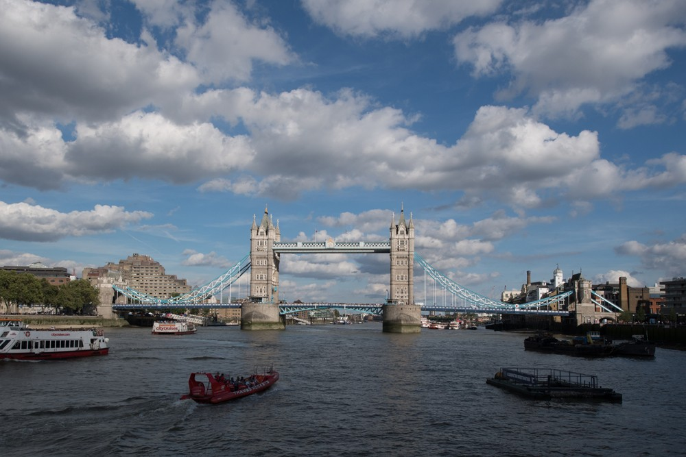 Tower Bridge as seen from the H.M.S. Belfast.