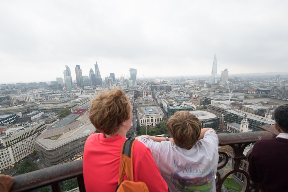 The view from the top of St. Paul's Cathedral.