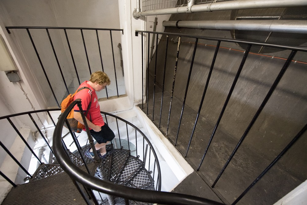 These are the stairs you climb to get to the top of the dome of St Paul's Cathedral.