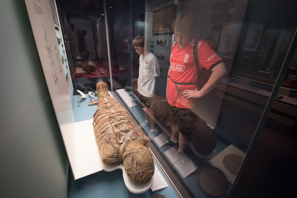 An Egyptian mummy in the British Museum.