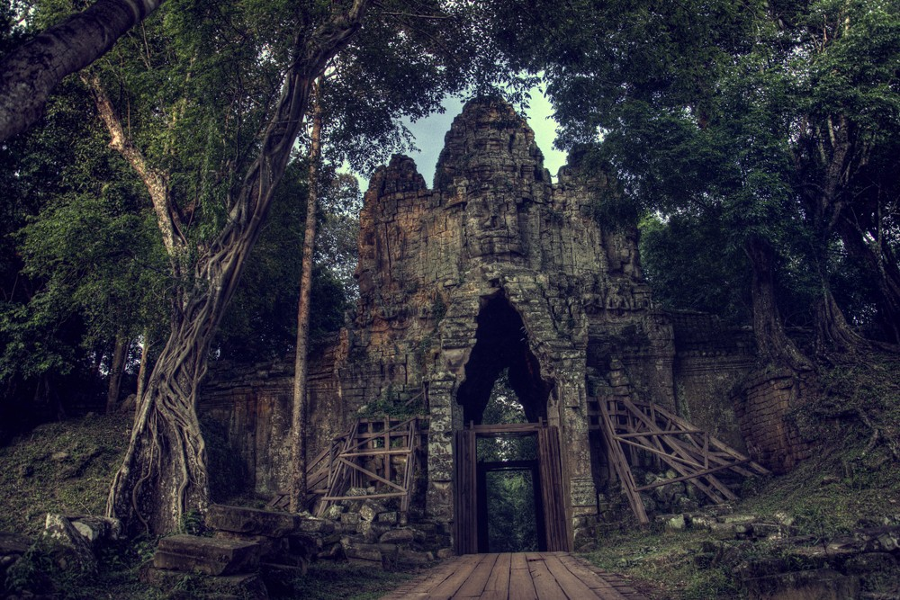 West gate of Angkor Thom, Siem Reap, Cambodia