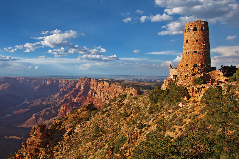 Grand Canyon view of the watchtower.