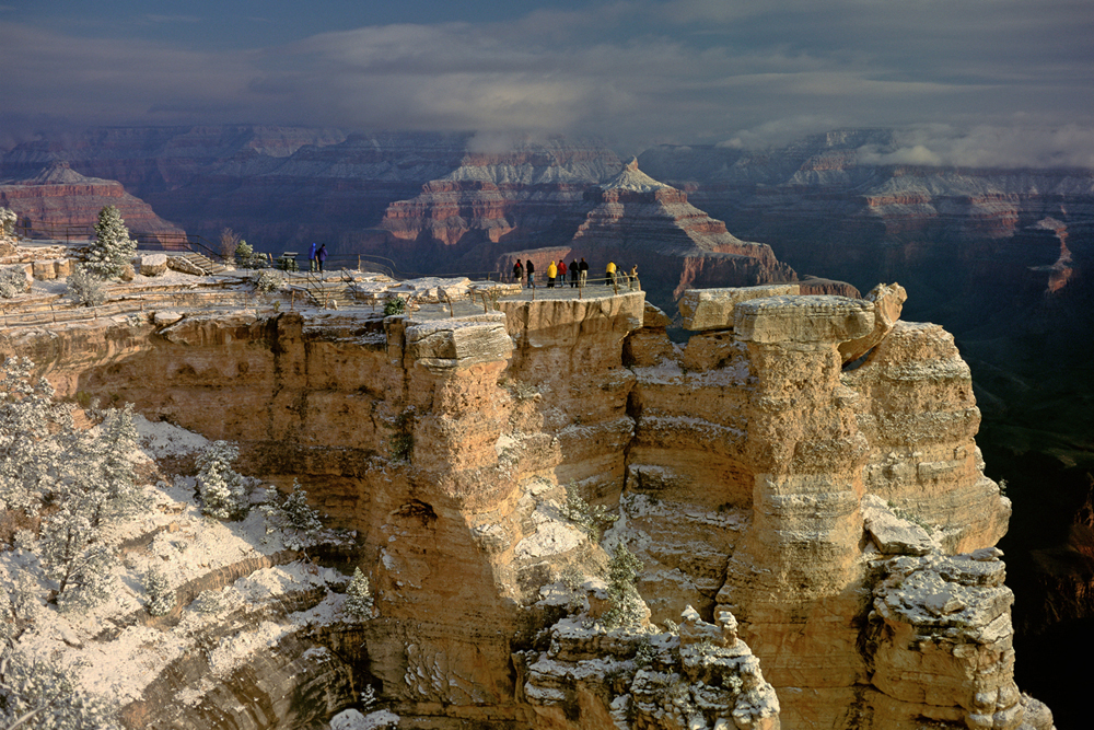 Grand Canyon, Mather Point in winter.