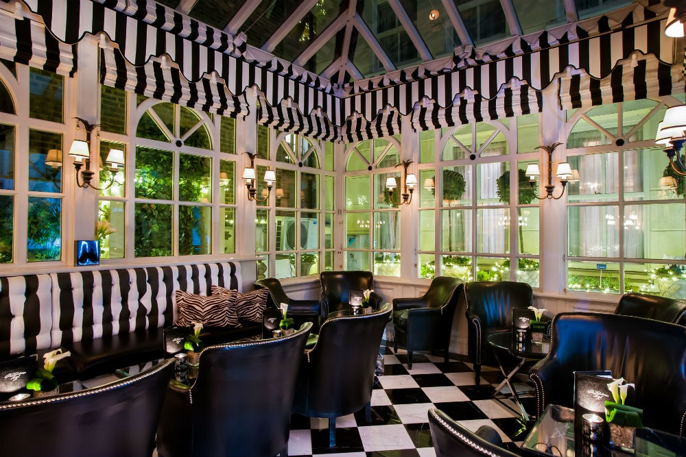 The Conservatory restaurant at the Milestone Hotel, London
