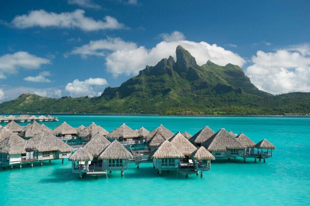 overwater bungalows at St Regis Bora Bora