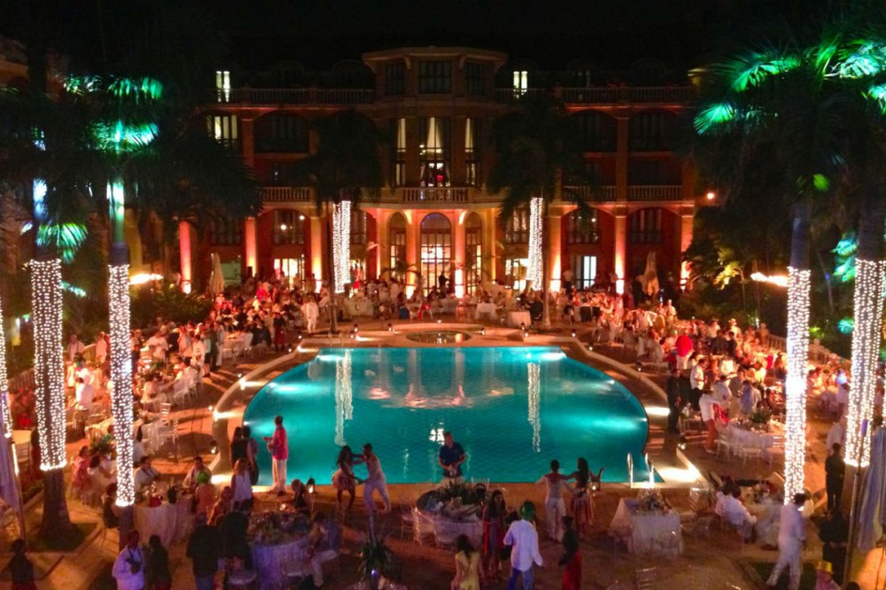 The New Year's party at Sofitel Santa Clara in Cartagena, Colombia