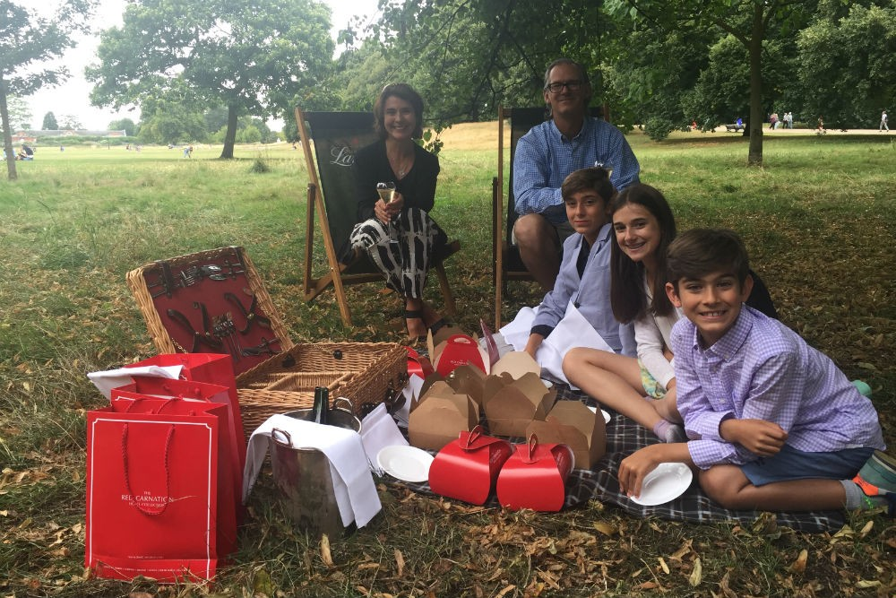 family picnic in Hyde Park London