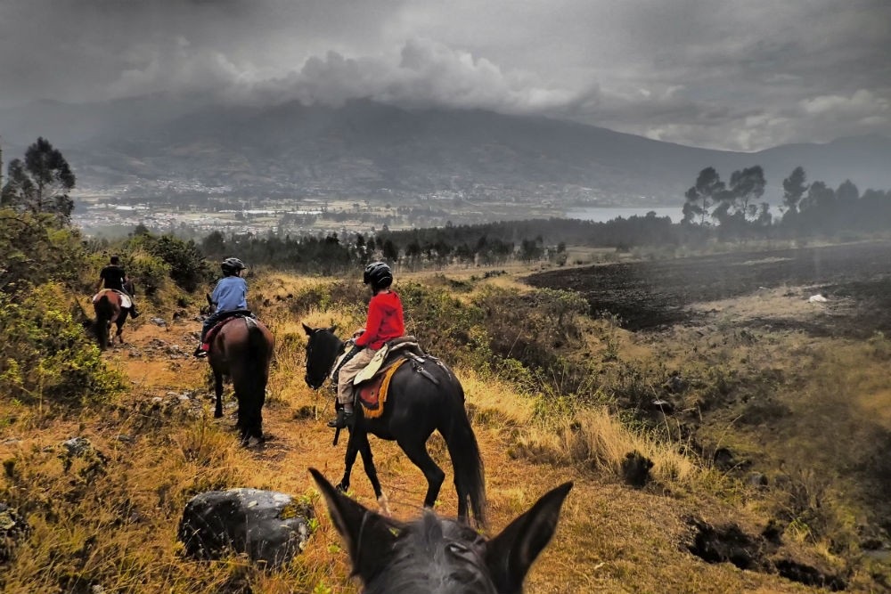 Horseback riding at Hacienda Cusin, Ecuador