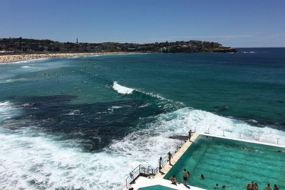 Bondi beach panorama Sydney Australia