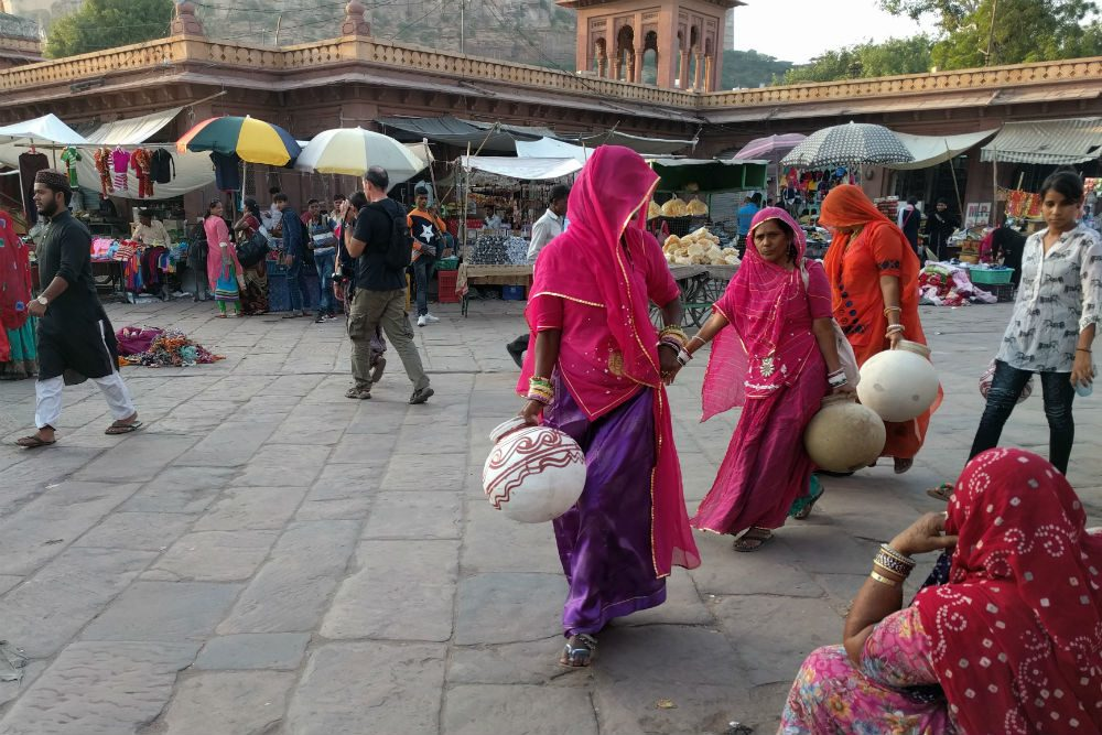 The market in Jodhpur, Rajasthan, India