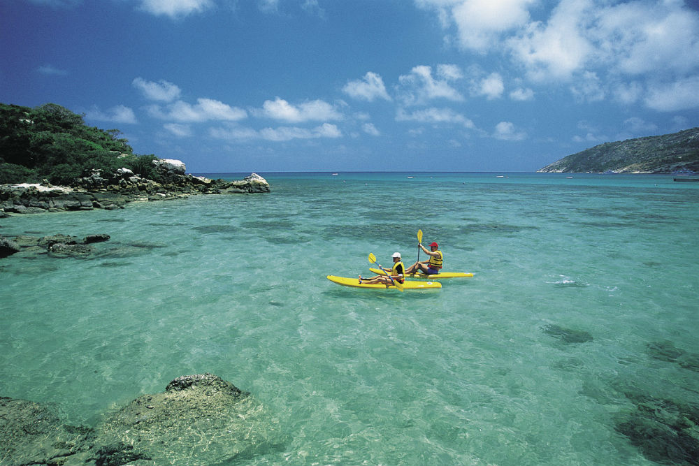 Kayaking Australia's Great Barrier Reef