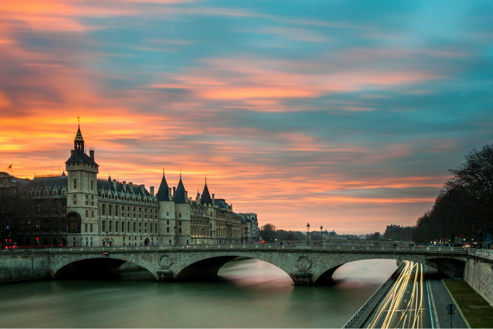 View over the River Seine, Paris, France