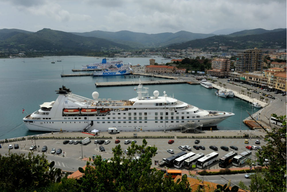 Windstar's Star Breeze on the island of Elba, during the inaugural cruise