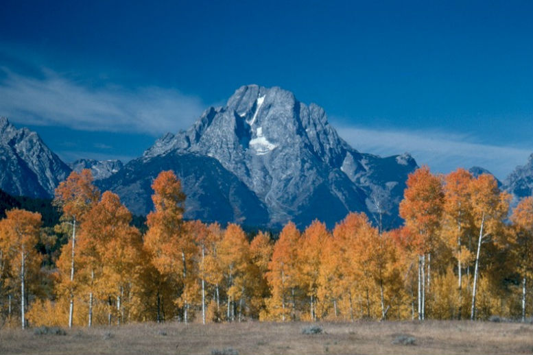 Grand Teton National Park in fall, Wyoming.