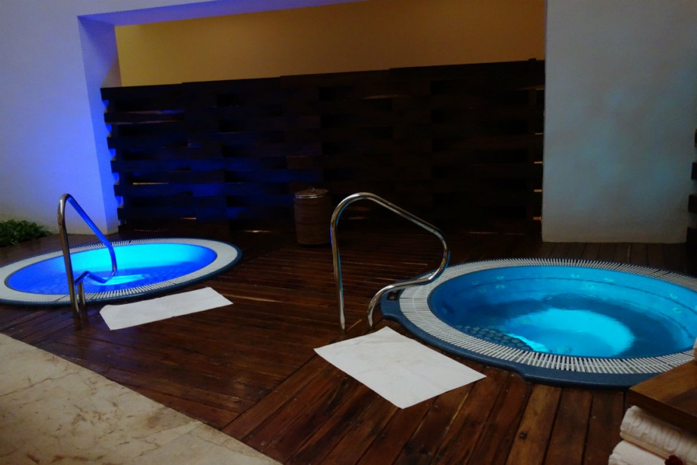 The spa hot tubs at Grand Velas Riviera Maya, Mexico