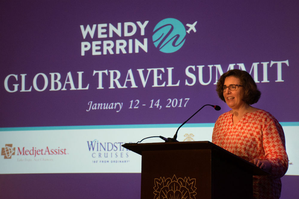 Wendy opens the second annual Global Travel Summit