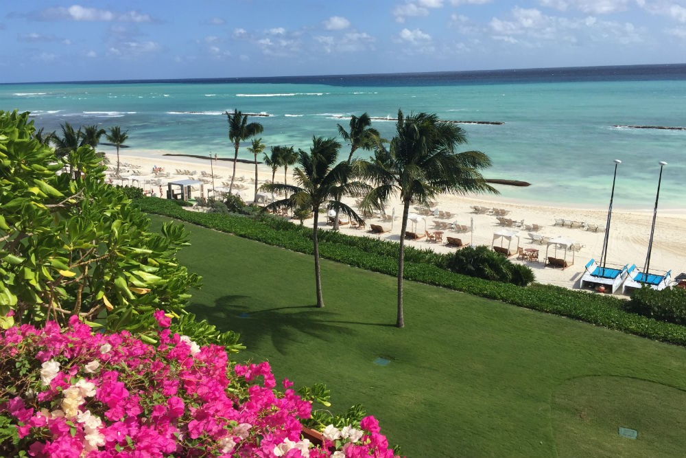 ocean view from a suite at the grand velas riviera maya mexico