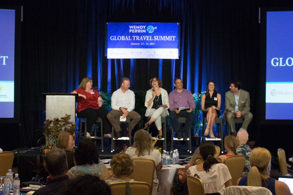 Trusted Travel Experts share their best practices for helping guests have extraordinary trips. (l to r: Gwen Kozlowski, Greg Tepper, Maria Gabriela Landers, Joe Yudin, Lindsey Epperly, Jonathan Epstein)