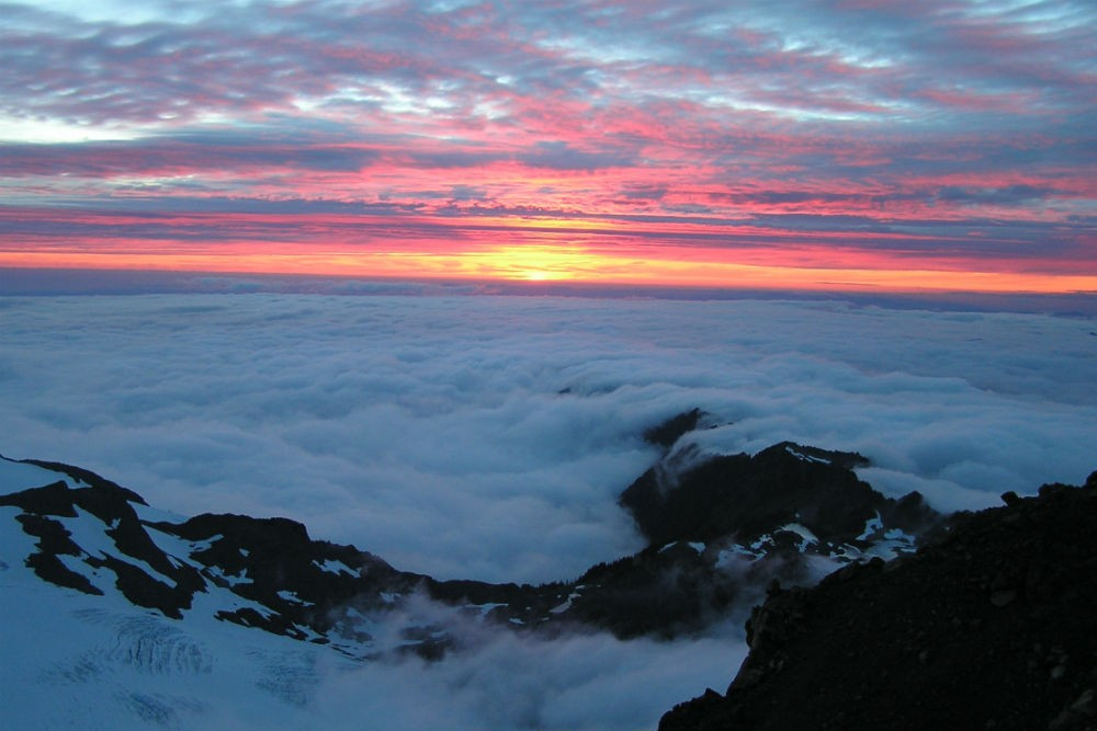 Sunset from Mt. Olympus, Olympic National Park in Washington